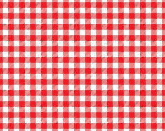 Red Gingham  craft  vinyl sheet - HTV or Adhesive Vinyl -  red and white pattern vinyl   HTV216