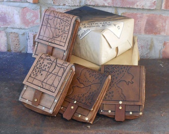Leather 'Gideon' Map Pouch