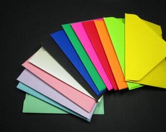 Gift Card Mini Color Envelopes Credit Debit Business Card Sleeves Handmade