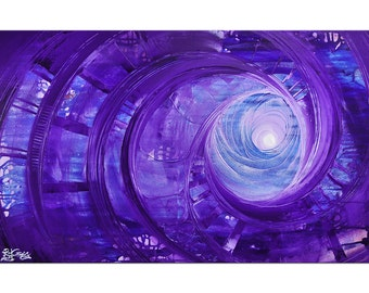 "Acrylic, abstract purple painting, Original Art by RK: ""Lila Beobachtet II"", Gallery of modern & contemporary  Art The Artmakers"