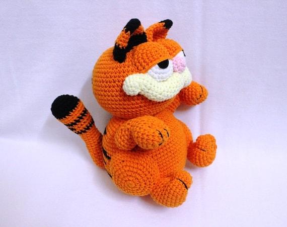 Amigurumi Free Patterns Garfield : Super Cute Crochet Garfield Orange Garfield Ready by ...