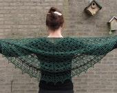 Moss Lace Crochet Shawl Pattern