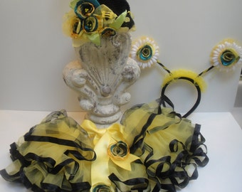 3 Piece Adorable Baby Toddler Bumble Bee Costume - 6 Montths to 4T