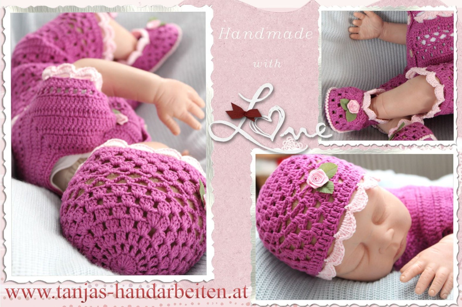 Crochet Pattern Baby Booties Orchid Sandals : Orchid Baby Hat and Booties Crochet Pattern
