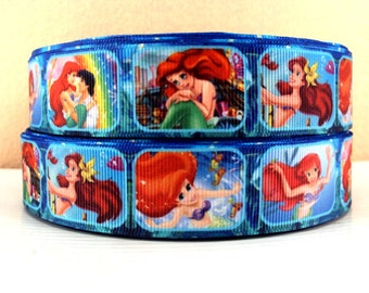 5 YDS Ariel Little Mermaid Ribbon