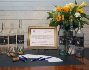 Fun Wedding Guestbook alternative! -  Wedding Guest Book, Guestbook Wine Labels, Unique Wedding Guestbook wedding Wine label guest book