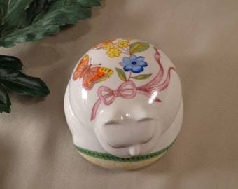 Sleeping Kitty Ceramic Keepsake - 1950