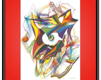 Fear Giclee Print, Abstract Painting, Fine Art Print, A4 A3 A2, Bold Expressive, Rich Colors