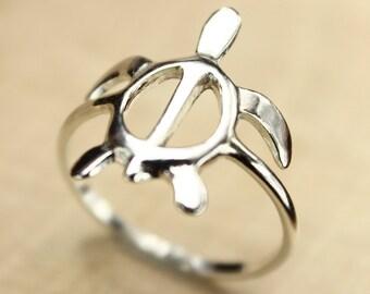 Sea Turtle Ring, Sea Turtle Jewelry, Nautical Jewelry, Beach Jewelry, Silver Ring