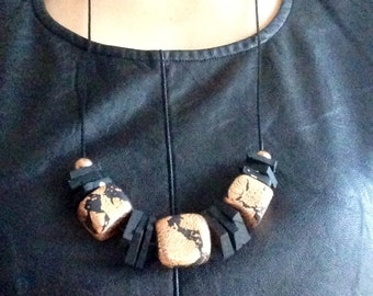 Black and copper City necklace