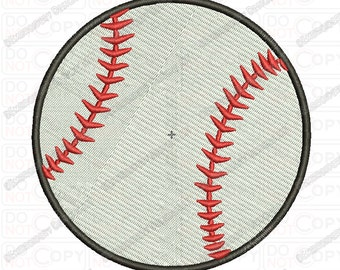 Baseball Embroidery Design in 1x1 2x2 3x3 4x4 and 5x7 Sizes