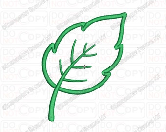 Tree Leaf Applique Embroidery Design in 3x3 4x4 and 5x7 Sizes