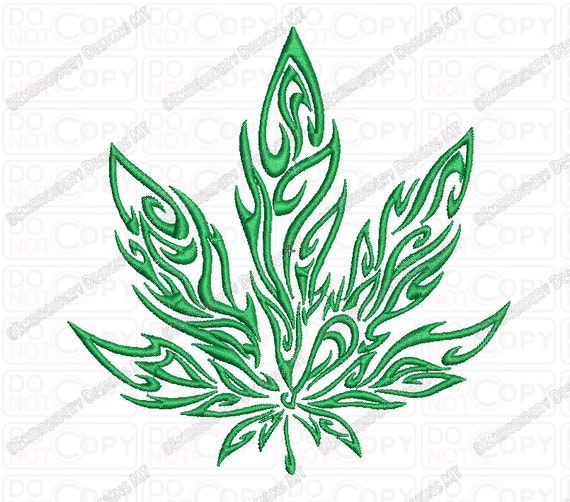 marijuana tribal flame cannabis leaf embroidery design in 3x3. Black Bedroom Furniture Sets. Home Design Ideas