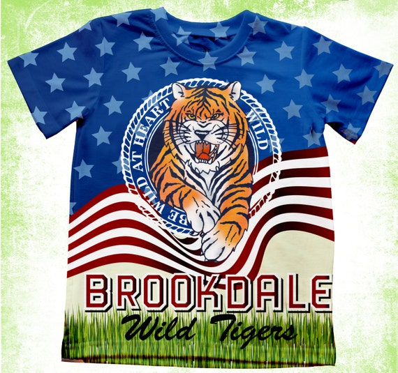 Personalized tiger t shirt school spirit t shirt school for Custom school t shirts