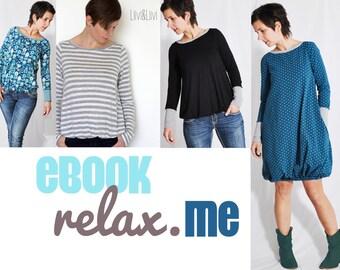 "eBOOK # 62 - Damen Shirt + Kleid ""relax.me"" only in german language"