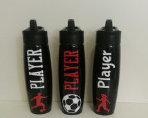Personalized Stainless Steel Water Bottle with straw for soccer, sports , coaches, cheerleading, kids
