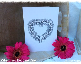 Enchanted Greetings Cards - When Two Become One