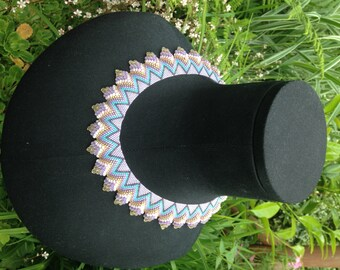 Peyote stitch beaded Cellini Necklace, seed bead jewellery, handmade