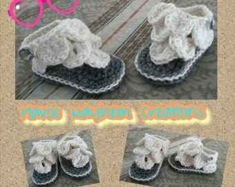 Baby Sandals Size 0-3 months.