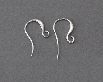 10% OFF (40 Pieces) . Hook Earring .  Wholesale Jewelry Supply . Matte Original Rhodium Plated over Brass  / 40 Pcs - AC071-MR