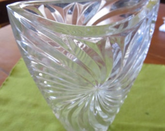50% OFF SALE!!   Vintage Lead Crystal Vase