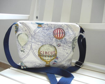 Hot Air Ballon Fabric Sling bag, Fabric Sling bag, Fabric Messenger bag, Fabric Tote bag