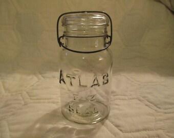 Vintage One Quart Glass Canning Jar