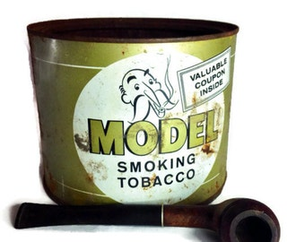 Antique Tobacco Tin Model Smoking Tobacco Limited Edition