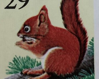 Postage Stamps, 18 - 29 Cent (29 cents) Red Squirrel Stamps, US Unused Postage, Woodland Creatures