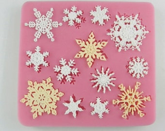13-cavity Snowflake Christmas Cake Mold Mould Silicone Mold Biscuit Mold Chocolate Mold Soap Mold