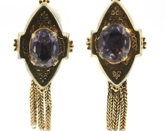 Victorian Amethyst Earrings