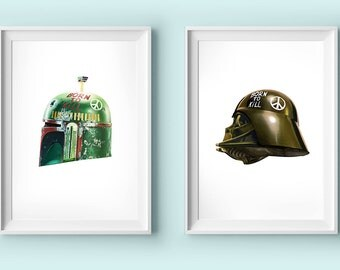 star wars poster set - boba fett / darth vader
