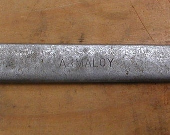 "Armstrong Armaloy Box Wrench. Made in USA of Armaloy Early to Mid-Century # 1039A  14"" long"