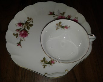 Vintage Cherry China - Plate and Teacup