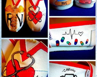Custom made Nursing/RN Toms. Designed and personalized just for you!- Men's Sizes