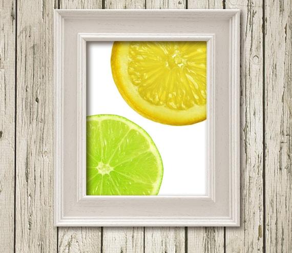 Items Similar To Lime Lemon Citrus Kitchen Art Printable