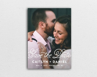 Wedding Save the Date - Love & Delight - Card and Envelope