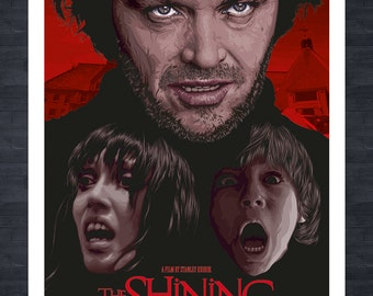 THE SHINING - A3 print - Jack Nicholson fictional movie poster