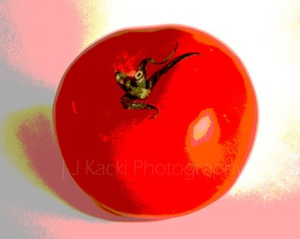 HOT TOMATO, Digitally Enhansed, Red Color