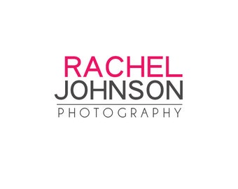 Pre-made Logo Design & Photography Watermarks -  Logo Template for Branding - Typography Logo - Photography Logo - Watermark Design 253