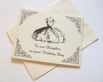 Daughter, Bride Wedding Day Card
