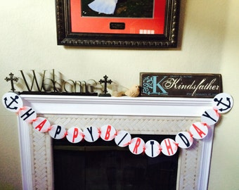 Nautical  Birthday Banner