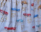 Vintage Classic Car Novelty Fabric Curtain Panels - Corvette T-Bird Chevy Studebaker