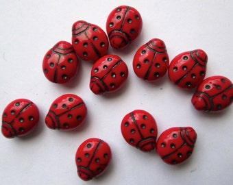 7 BIG red Lady Bugs