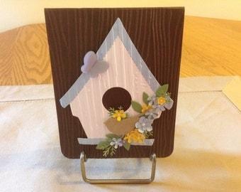 Pop Up Birdhouse Birthday Card