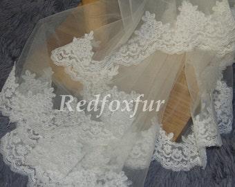 5m Long lace bridal veil, wedding veil,