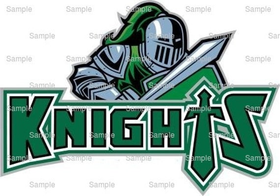 Knights Mascot Birthday - Edible Cake and Cupcake Topper For Birthday's and Parties! - D938