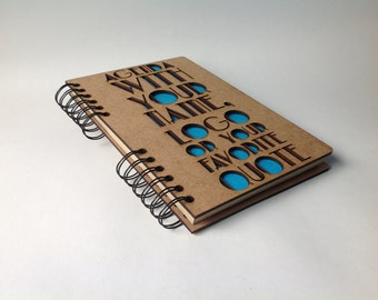A5 Laser cut customizable Agenda