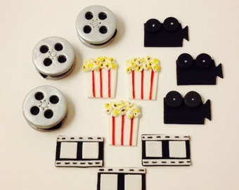 Movie Cupcake Toppers - Fondant