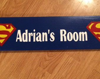Superman inspired room sign